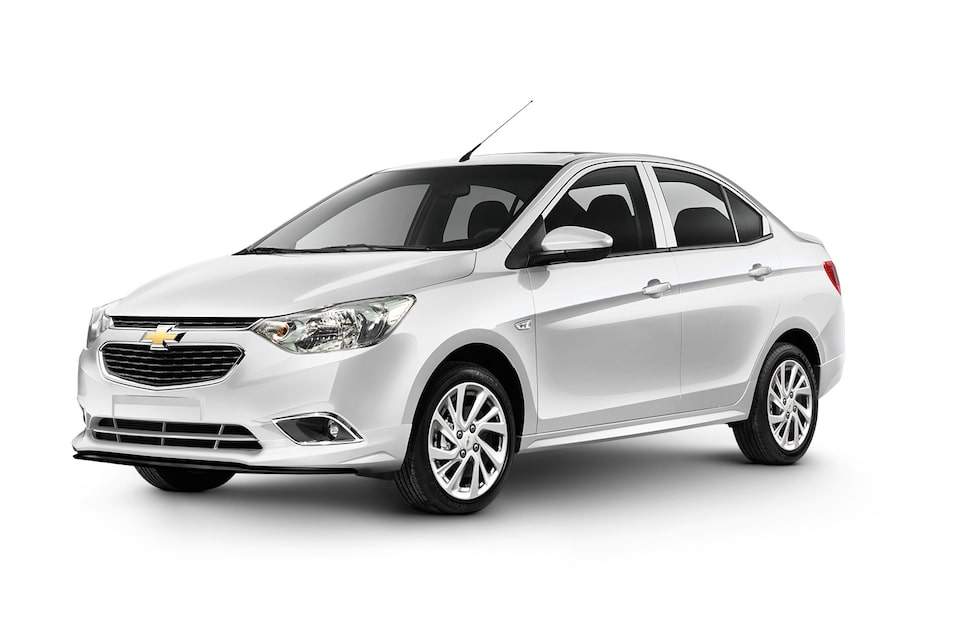 Chevrolet Aveo 2020, auto sedán, en color blanco