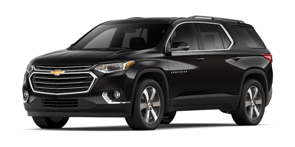 Chevrolet Traverse 2020, camioneta familiar en color negro ónix